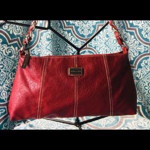 EUC Sofia Vergara red leather shoulder bag